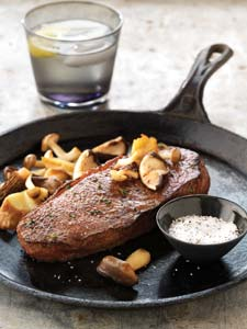 Skillet Steaks With Sauteed Wild Mushrooms