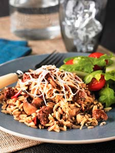 Ground Beef, Wild Rice & Mushroom Bake